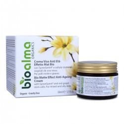 Crema Viso Anti-età Effetto MAT Bio con SynerGem4® (50 ml) -...